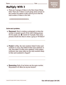 Multiply With 3: Problem Solving Worksheet