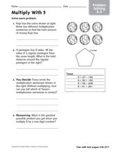 Multiply With 5 Worksheet