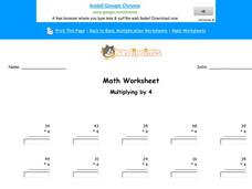 Multiplying by 4: Part 5 Worksheet