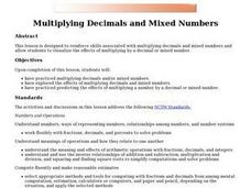 Multiplying Decimals and Mixed Numbers Lesson Plan