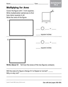 Multiplying for Area - Enrichment 19.4 Worksheet