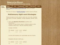 Multisensory Sight-word Strategies Lesson Plan