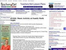 Music Activity at Family Math Night Lesson Plan