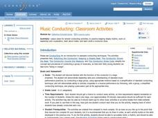Music Conducting: Classroom Activities Lesson Plan