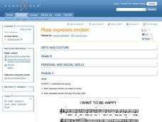 Music Expresses Emotion Lesson Plan