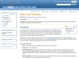Music Form Activities Lesson Plan