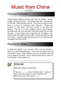 Music From China Worksheet