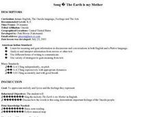 Music: The Earth Is My Mother Lesson Plan