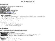 Music - Touch the Wind Lesson Plan