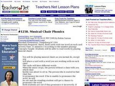 Musical Chair Phonics Lesson Plan