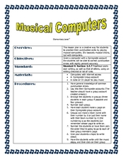 Musical Computers Lesson Plan