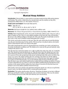 Musical Hoop Addition Lesson Plan