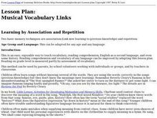 Musical Vocabulary Links Lesson Plan