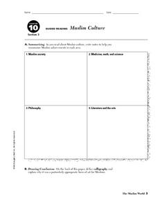 Muslim Culture Worksheet