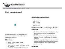 Must Love Animals! Lesson Plan