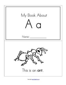 My Book About Aa Worksheet