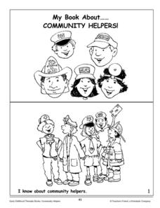 My Book About Community Helpers: Mini-Book Kindergarten