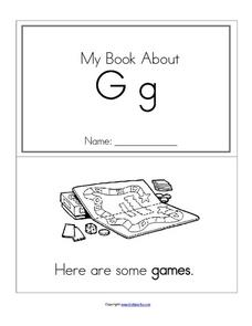 My Book About Gg Worksheet