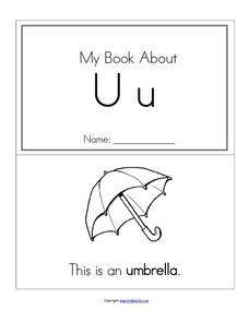 My Book About Uu Worksheet