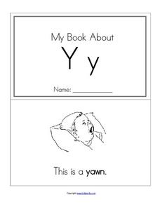 My Book About Yy Worksheet