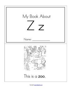My Book About Zz Worksheet
