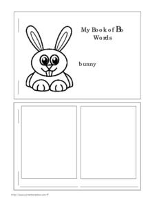 My Book of Bb Words Worksheet