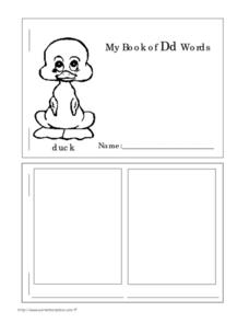 My Book of Dd Words Worksheet