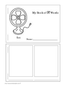 My Book of Ff Words Worksheet