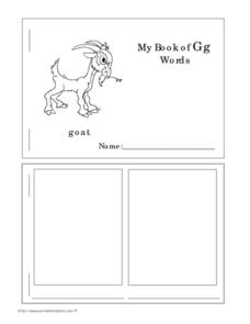 My Book of Gg Words Worksheet