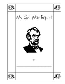 My Civil War Report Printables & Template
