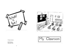 My Classroom - Mini Book Worksheet