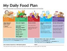 Worksheets My Daily Food Plan Worksheet my daily food plan 18 years old 11th higher ed worksheet worksheet