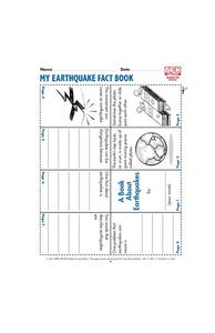 My Earthquake Fact Book Lesson Plan