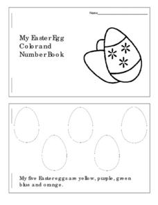My Easter Egg Color and Number Book Worksheet
