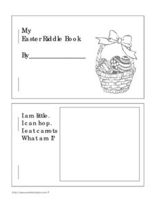 My Easter Riddle Book Worksheet