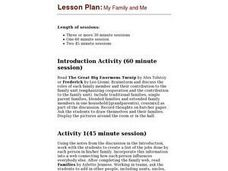 My Family And Me Lesson Plan