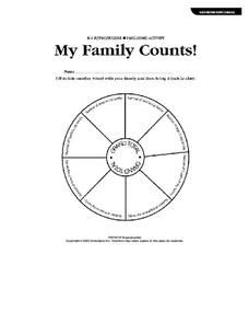 My Family Counts! Worksheet