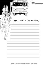 My First Day of School Worksheet