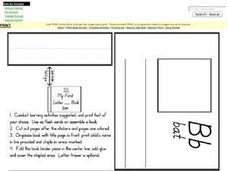 My First Letter B Book Worksheet