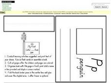 My First Letter P Book Worksheet