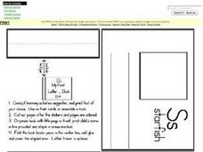 My First Letter S Book Worksheet