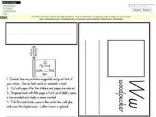 My First Letter Ww Book Worksheet