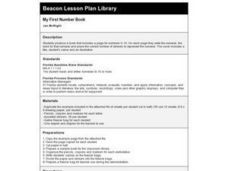 My First Number Book Lesson Plan