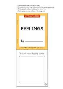 My First Words: Feelings Worksheet
