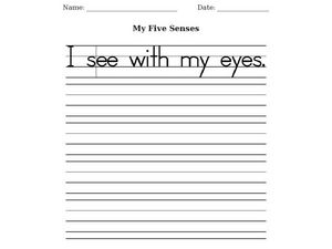 My Five Senses Worksheet