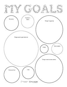 My Goals 3rd - 8th Grade Worksheet   Lesson Planet