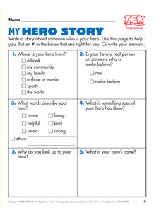 My Hero Story Lesson Plan