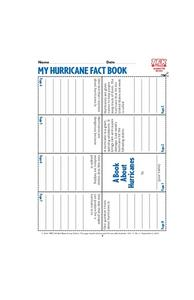 My Hurricane Fact Book Lesson Plan