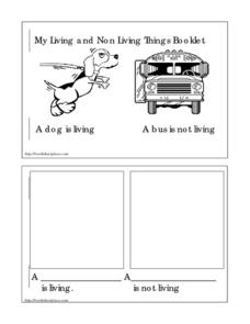 My Living and Non-Living Things Booklet Worksheet