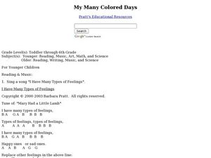My Many Colored Days Lesson Plan